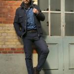 porter sur-veste bleu tailleur paris