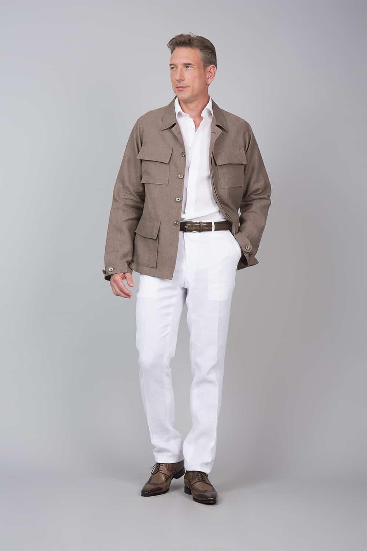 H31N – Tailor made single breasted saharan jacket