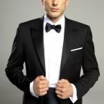 cérémonie smoking noir classique tailleur paris veste ouverte