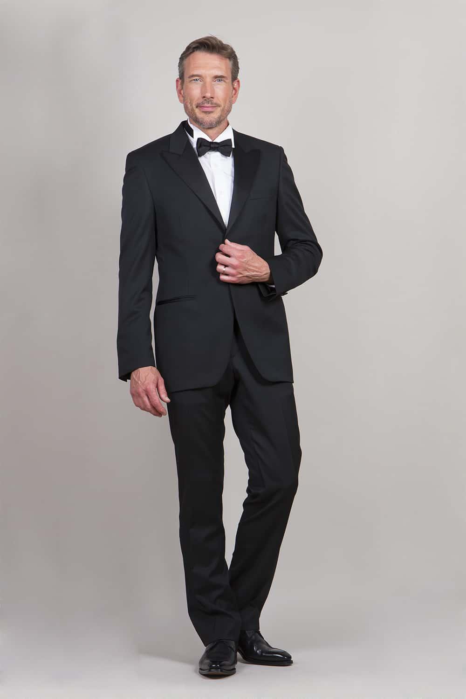 cérémonie smoking noir classique tailleur paris veste fermé