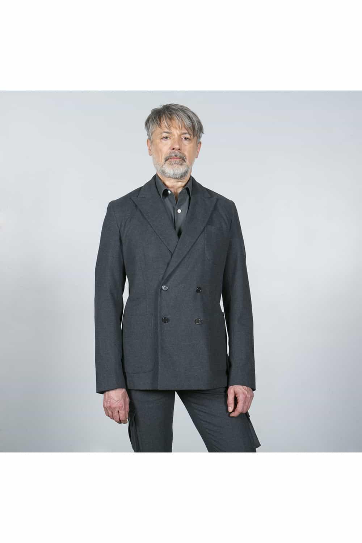 Costume gris coton fermé
