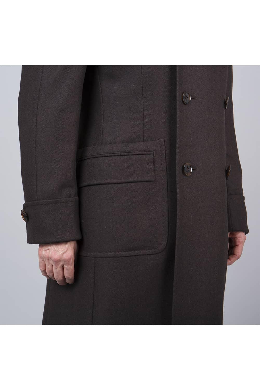 boutons manches manteau russe long