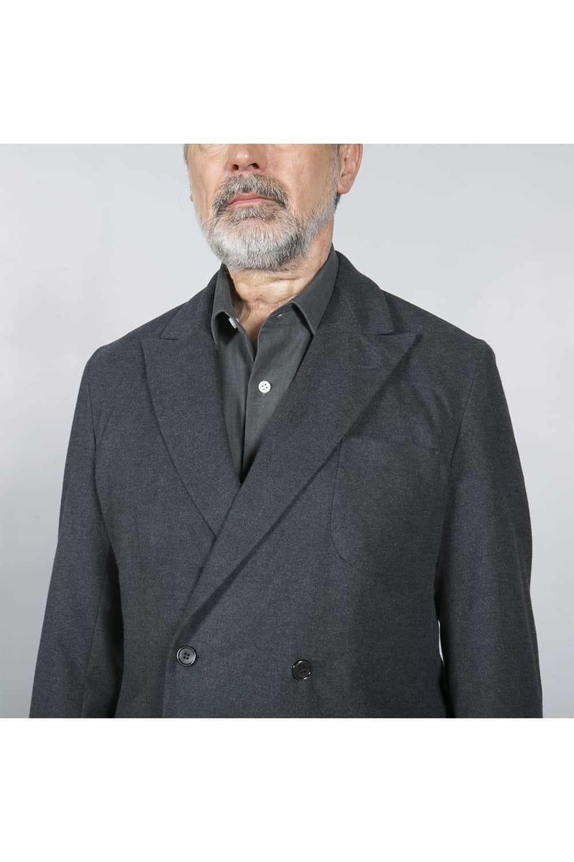 revers costume gris coton
