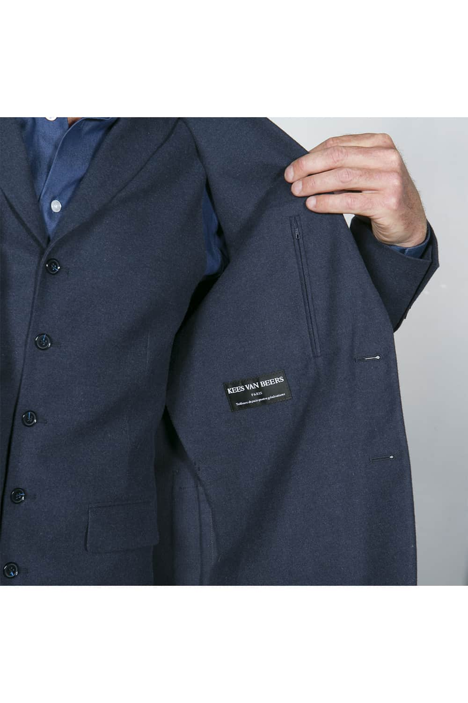 doublure costume bleu coton