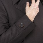 manche avec bouton manteau russe long
