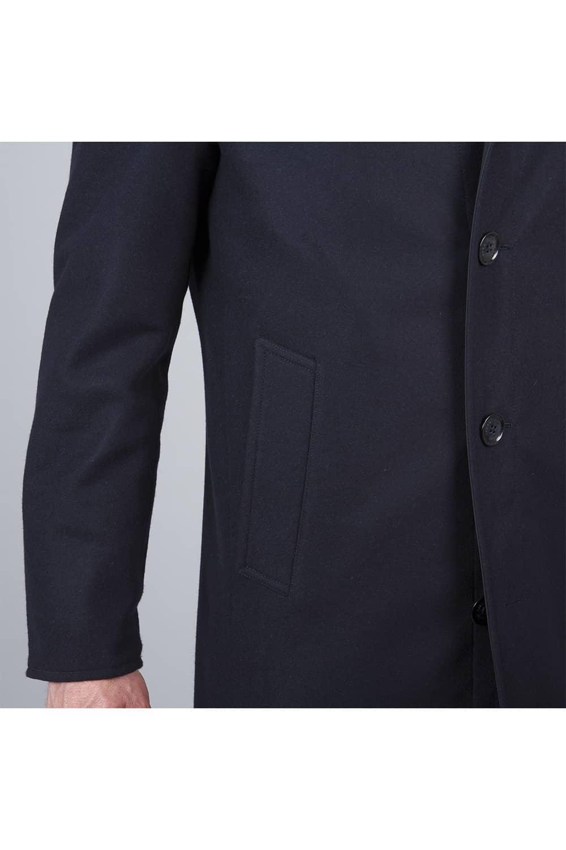 manche bouton trench coat noir