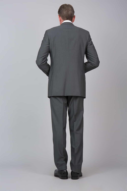 dos fente costume gris sur mesure