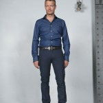 chemise costume bleu coton