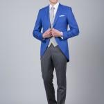 cérémonie jaquette bleue grise tailleur paris