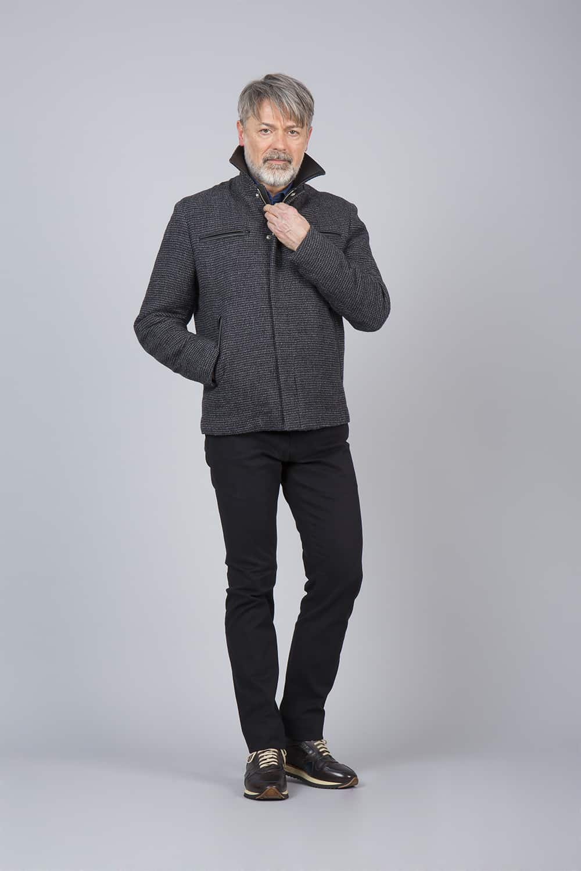 blouson noir grande mesure tailleur parisien