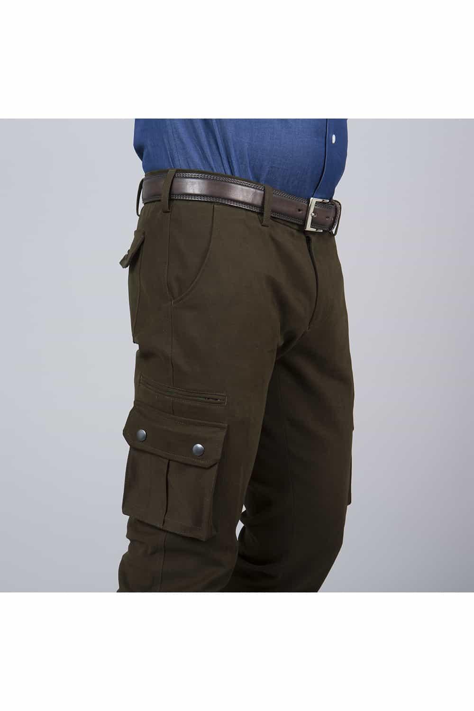 côté pantalon stretch du blouson sur mesure