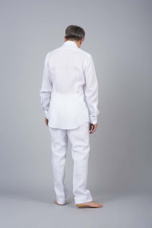dos chemise lin