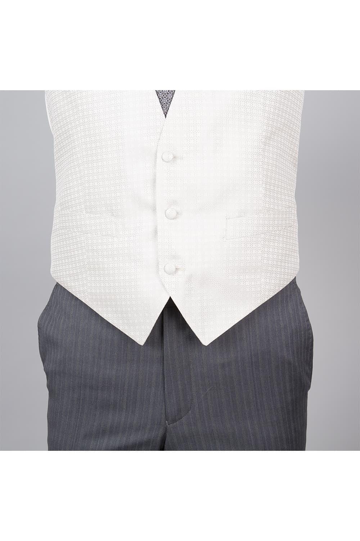 cérémonie tenue grise gilet blanc tailleur boutonnage vestons