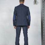 veste dos costume bleu coton