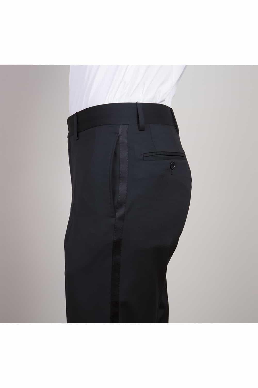 cérémonie smoking noir classique tailleur paris pantalon profil