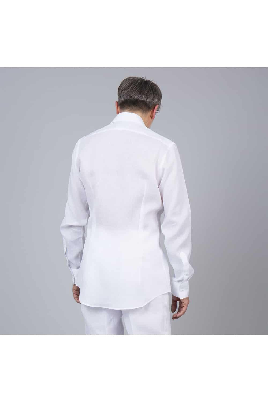 chemise dos lin saharienne