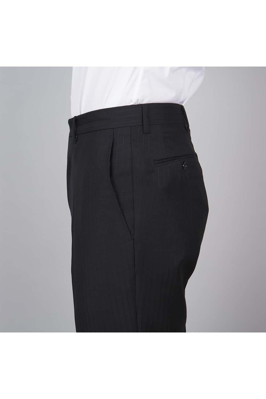 cérémonie redingote decoupe noir sur mesure pantalon profil