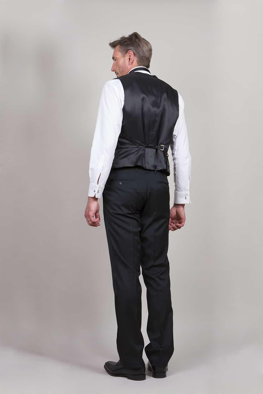 cérémonie smoking noir classique tailleur paris gilet arrière