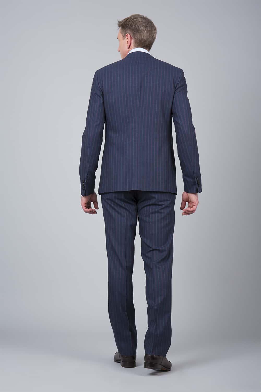 dos costume bleu rayure 3p
