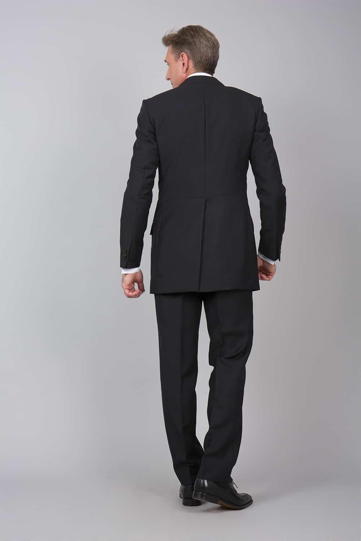 cérémonie redingote decoupe noir sur mesure costume dos