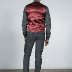 gilet dos rouge