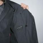doublure veste coton gris