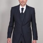 cérémonie tenue de mariage redingote bleue tailleur paris Redingote 3/4