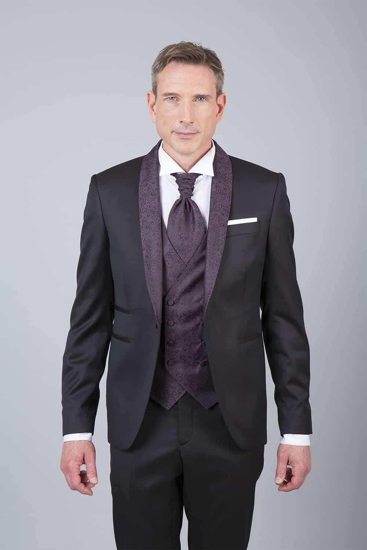 veste cérémonie marron tailleur paris