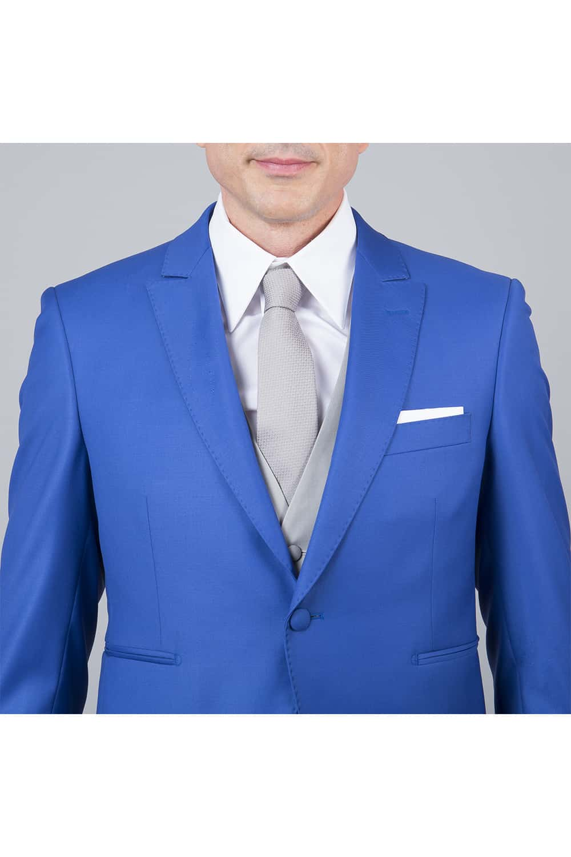 cérémonie jaquette bleue grise tailleur paris vue de face