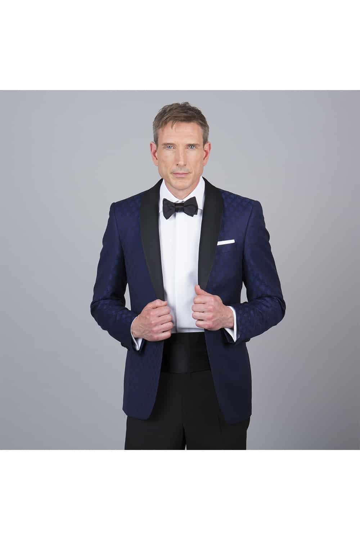 cérémonie smoking bleue tailleur paris pantalon veste