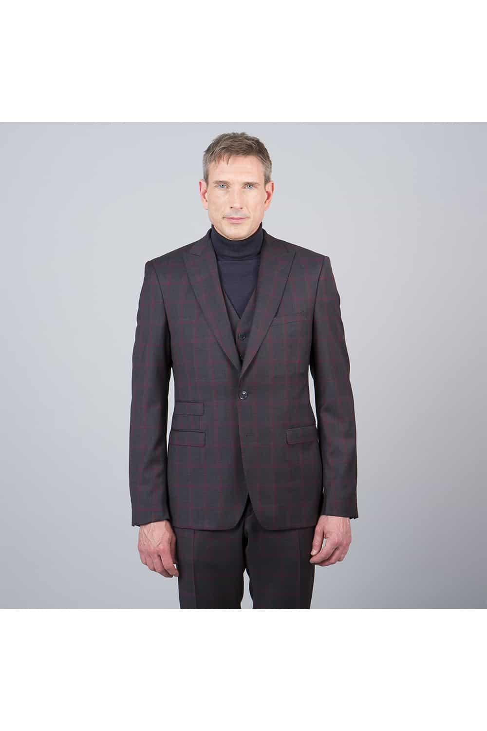 homme veste costume carreaux 3p paris