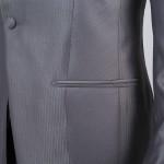 cérémonie redingote découpe grise poches