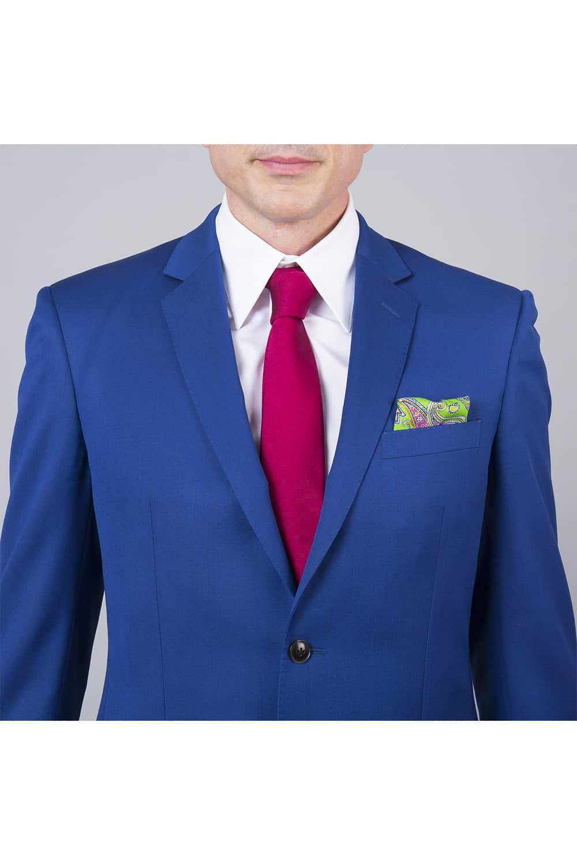 costume revers bleu roi 2p paris
