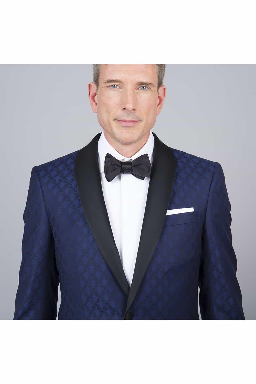 cérémonie smoking bleue tailleur paris veste col