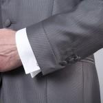 cérémonie redingote découpe grise manches