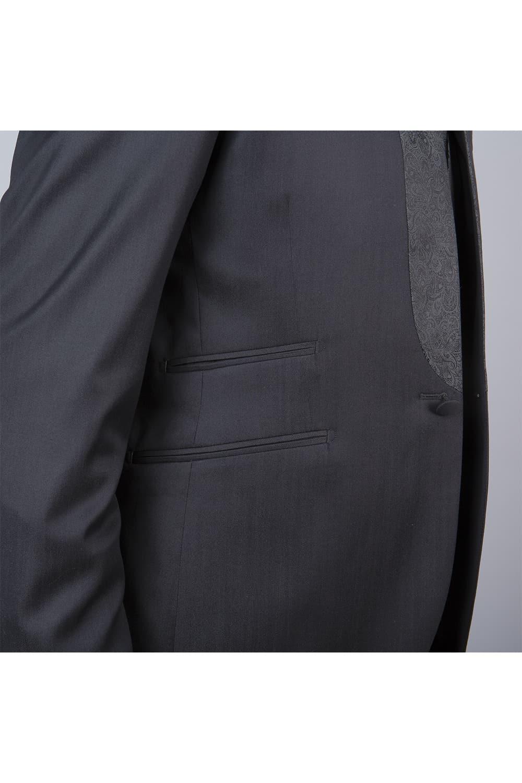 cérémonie tenue grise tailleur doubles poches