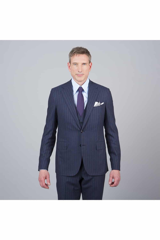 veste costume bleue rayure 3p tailleur paris