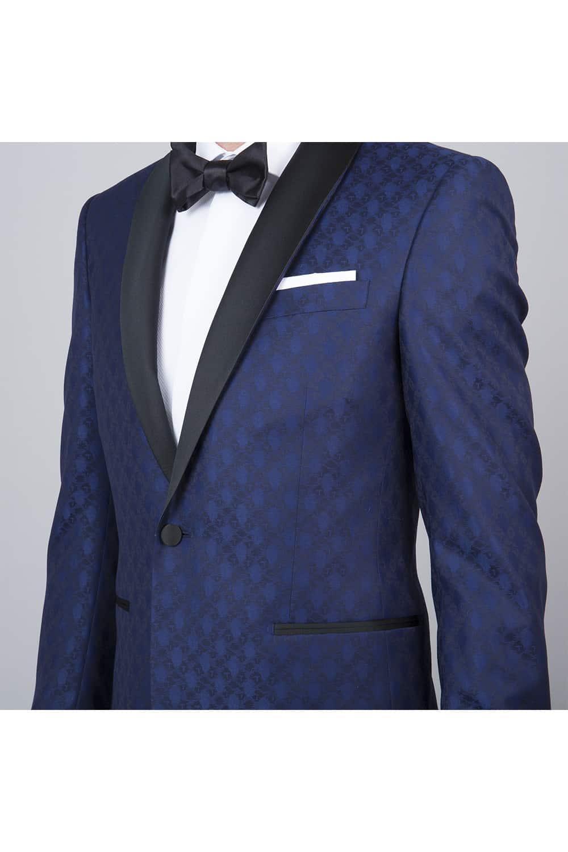 cérémonie smoking bleue tailleur paris veste poche