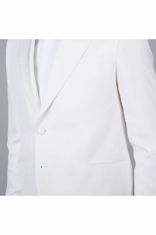 cérémonie smoking blanc tailleur paris 2 poches sans rabat