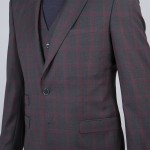 homme revers costume carreaux 3p tailleur paris