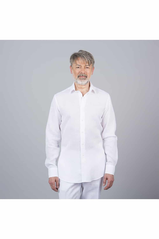 chemise lin saharienne