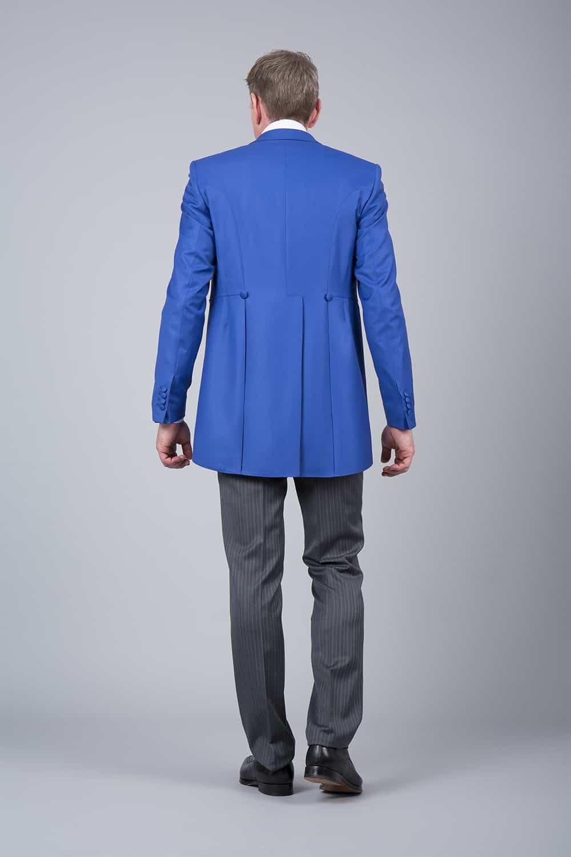cérémonie jaquette bleue grise tailleur paris vue de dos
