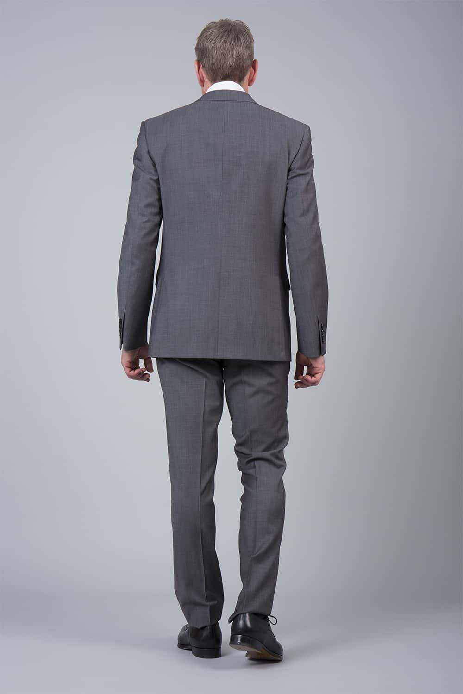 dos du costume gris tailleur Paris