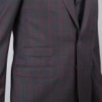 homme poches costume carraux 3p tailleur paris