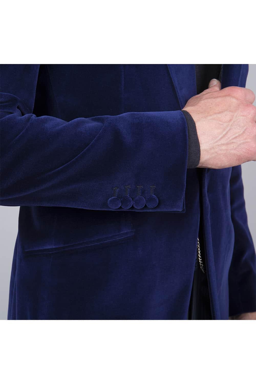 manche veste velours tailleur paris