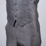 cérémonie redingote découpe grise poche pantalon
