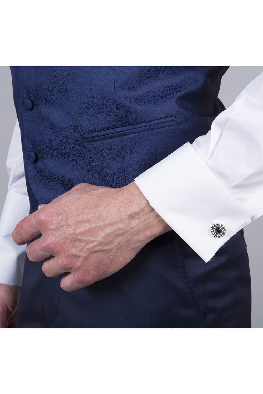 manche chemise costume bleu cérémonie