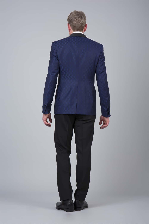 cérémonie smoking bleue tailleur paris veste dos