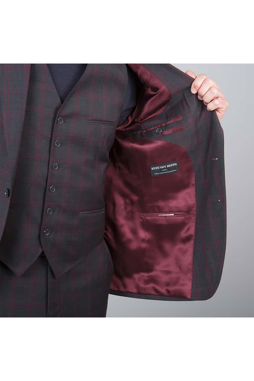 homme doublure costume carreaux 3P tailleur Paris