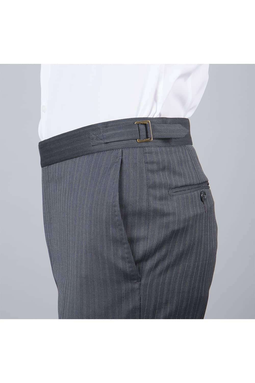 cérémonie jaquette bleue grise tailleur paris profil pantalon
